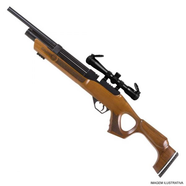 Carabina PCP Hatsan Flash Wood Chumbinho .25 6.35mm + Luneta