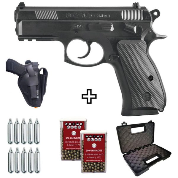 Pistola Airgun CZ-75D Compact Co2 4,5mm + Coldre