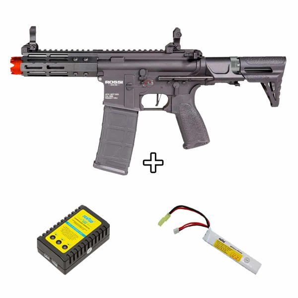 Rifle Neptune PDW 5.5″ M4 Metal 6mm + Carregador + Bateria